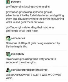 MY CRUSH IS IN SLYTHERIN AND IM IN GRYFFINDOR