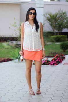look saia laranja regata fashion style estilo moda borboletas na carteira-4