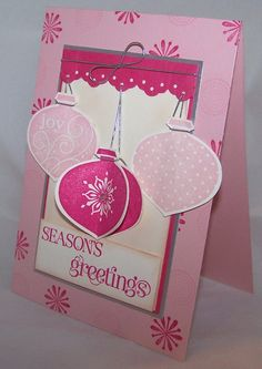 Christmas Card in pinks!
