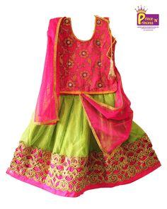 Prince N Princess Kids Lehenga Choli, Ghagra Choli, Langa Voni, Party Frocks, Prince And Princess, Pink Light, Ethnic, Traditional, Summer Dresses