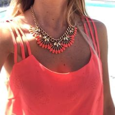 Stella & Dot | Coray Cay Necklace - perfect colour for summer holiday