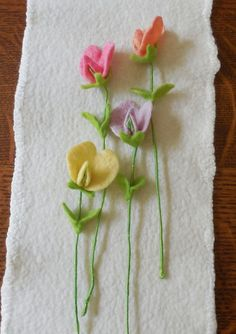 Sweet Pea  Felted Flower  create your own bouquet by LilSprigs