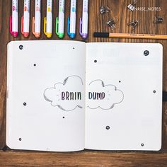 My brain dump page 🌈 It isn't very pretty but it is useful! Do you guys use brain dumps? use my code to get 10 % off a… Brain Dump Bullet Journal, Bullet Journal 2020, Bullet Journal Notebook, Bullet Journal Aesthetic, Bullet Journal Ideas Pages, Bullet Journal Layout, Bullet Journal Inspiration, Bullet Journals, Cute Journals