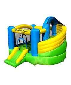 Curved Safe-Return Slide Jump-a-Lot Bounce House