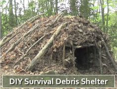 DIY Survival Debris Shelter - one of the easiest shelters to build in a survival…