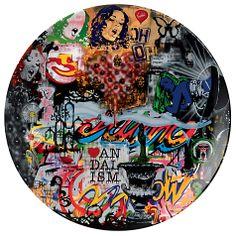 Buy Royal Doulton Street Art Nick Walker Collage Plate Online at johnlewis.com