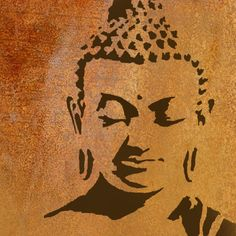 Buddha Reusable Stencil. For home decor, Wall Art and many other art projects…