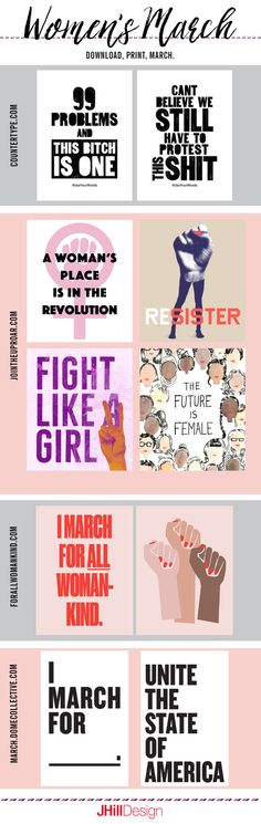 Free Women's March Protest Signs: Download and Print