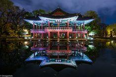 Gwanghallu Pavilion at Night in Namwon
