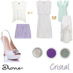 """Paleta del color: Cristal"" by dionemoda on Polyvore"