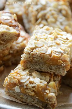 Salted Butterscotch Oat Bars Recipe - these bar cookies are addictive!