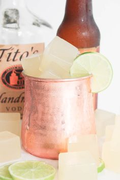Moscow Mule Jello Shots. A refreshing adult spin on jello shots that everyone will love.