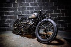 "Erico Motorsport -2014 Triumph T100 ""The Deadline"" | Bobber Inspiration - Bobbers and Custom Motorcycles | slypiggens November 2014"