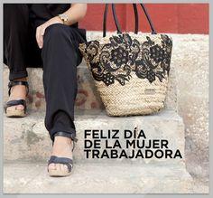 ¡Feliz día de la Mujer Trabajadora! #capazo, #basket, #panier, #encaje, #dentelle, #lace