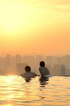 Marinda Bay Sands infinity pool