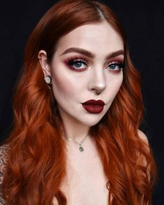 Redhead Brow Pen Take your bold beautiful brows into fall with Bushy Brow 😍 Emelie Axelson wearing our Precision Pen Strong Hold Gel in Red Head and Venus XL Palette! Redhead Makeup, Red Makeup, Eyebrow Makeup, Red Hair Color, Green Hair, Burnt Orange Hair, Ginger Hair Color, Natural Hair Growth, Natural Hair Styles