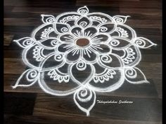FREEHAND KOLAM FOR FESTIVE OCCASIONS - YouTube