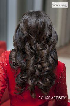 Wedding Bridal Hair - more inspiration @ http://www.ModernRani.com
