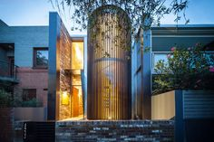 Image from Aquas Perma Solar Firma by CplusC Architectural Workshop in Alexandria, Australia. Workshop Architecture, Architecture Design, Alexandria House, Victorian Cottage, Stair Railing, Stairs, Patio Doors, House And Home Magazine, Architectural Elements