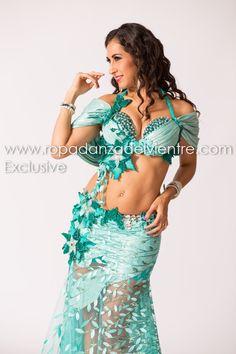 seafoam belly dance costume