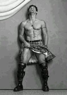 Lusty leather man