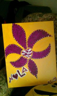 FLEUR DE LIS lsu tiger themed For the Love of n o l by brookeworm, $50.00