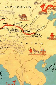 17 Best silk road map images