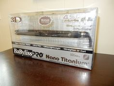 BaBylissPro Nano Titanium Straightening Iron & Carrying Case
