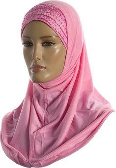 Hijab - Two Piece - Light Pink - Beads http://www.muslimbase.com/clothing/hijabs/two-piece-hijab/hijab-piece-light-pink-beads-p-1944.html