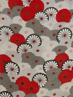 "@rie CPH TAKEDA "" KIKU WAVES "" 2003, Antique Kimono fabric collage By Rie Takeda 元祖ネオ・ジャポニズム通信"