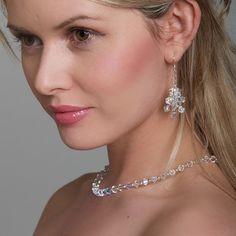 Crystal Jewelry  Swarovski Necklace  Clear AB by WeddingAndGems, £28.99