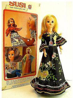 Susi doll - 70's - factory Estrela, Brazil. Boneca Susi, década de 70, Brasil. #susi #doll #estrela #boneca