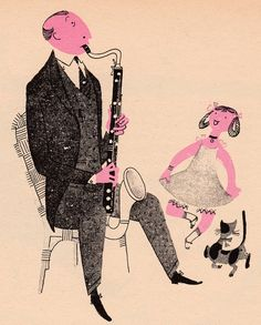 What Makes an Orchestra by Jan Balet (via My Vintage Book Collection in Blog Form) #JanBalet #orchestra #illustration