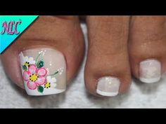 Painted Toes, Toe Nail Designs, Pretty Toes, Toe Nails, Pedicure, Hair Beauty, Lily, Nail Art, Youtube