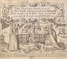 V and A article on embroidery pattern books in the 16th and 17th centuries
