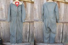 Grey Winter Coveralls by Walls, Men's M Women's L // Vintage Insulated Work Snowsuit // Jumpsuit Snow Suit, Almost Always, Im Not Perfect, Jumpsuit, Walls, Grey, Winter, Cotton, How To Wear