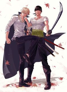 One Piece, Straw Hat Pirates, Zoro, Sanji