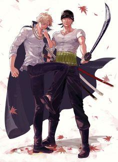One Piece- Straw Hat Pirates: Zoro, Sanji