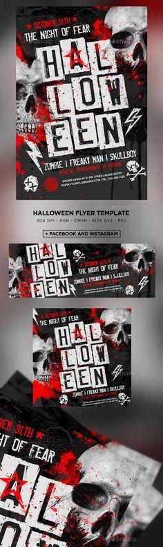 Halloween Flyer by MaksN Flyer Design, Layout Design, Design Ideas, Halloween Party Flyer, Flyer Size, Font Names, Facebook Timeline, Party Poster, Halloween Design