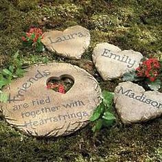 Personalized #Friends Large Stepping Stone