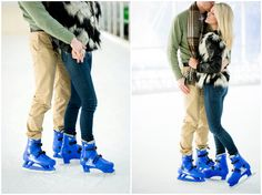 Ice Skating engagement photos by Plum Pretty Photography. Colorado winter engagement photo inspiration.