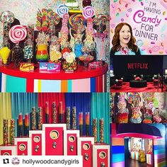 """Yay Team! 🎉#Repost @hollywoodcandygirls ・・・ It's Kimmy Schmidt's Candy Store! 🍭🎬 This Incredible installation re- creating Dylan's Candy Bar for hit show @unbreakablekimmyschmidt @netflix 100 Millionth Subscriber Party Tonight! 🍭🎉🍭🎉 Yay Team! @richie_touch @itsmacaya @instajamm_  @_ea_sports @love.g.e.n @hollywoodcandygirls #wearenetflix #eventprofs #100millionthsubscribers #party #candy #catering #happinessmakers #hollywood #netflix #kimpossible #kimmyschmidt #setlife #setdesign…"