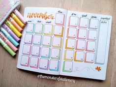 Hi Stationery Monsters, here is my monthly layout . - Hi Stationery Monsters, here is my monthly layout . - Hi Stationery Monsters, here is my monthly layout . - Hi Stationery Monsters, here is my monthly layout . Bullet Journal School, Bullet Journal Writing, Bullet Journal Headers, Bullet Journal Banner, Bullet Journal Monthly Spread, Bullet Journal Aesthetic, Bullet Journal Inspo, Bullet Journal November Layout, Bujo Monthly Spread