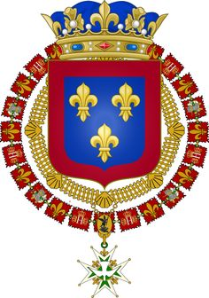 Arms of Philippe, Duke of Anjou before becoming King of Spain.