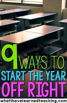 Are you ready to head back to school yet? Here are 9 ways that you can start the year off right. These strategies will help you set the foundation for your classroom and create a space where you and your students will want to be every day of the school year.