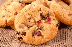 Fairtrade cranberry, white chocolate and brazil nut biscuits