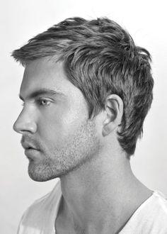 Men's Haircut.                                            Faceted layer technique variation 1