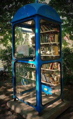 Phone booth library, Nagymaros, Hungary