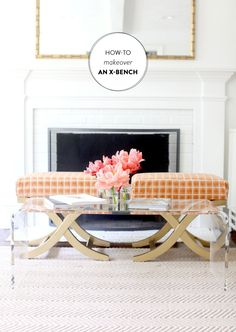 How to Makeover an X Bench  Read more - http://www.stylemepretty.com/living/2013/06/17/how-to-makeover-an-x-bench/