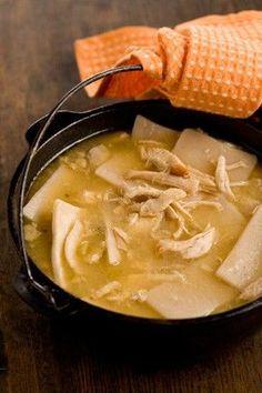 Paula Deen's Chicken & Dumplings http://www.pauladeen.com/recipes/recipe_view/chicken_dumplings